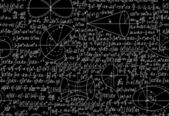 Mathematical vector seamless pattern with formulas, figures and calculations. You can use any color of background — Vetorial Stock