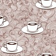 Beautiful vector seamless pattern with coffee cups — Stock Vector #55164527