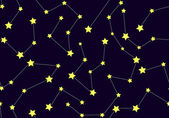 Vector seamless pattern with constellations — Stockvector
