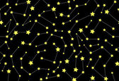 Vector seamless pattern with stars and constellations — Stockvector