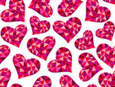 Beautiful vector seamless pattern with geometrical triangle hearts - symbol of love. You can use it as a valentine's day background — Wektor stockowy