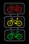 Vector traffic lights with cycles — Stock Vector