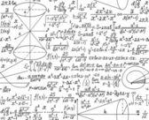 математические вектор бесшовный паттерн с цифры и расчеты. вы можете использовать любой цвет фона — Cтоковый вектор