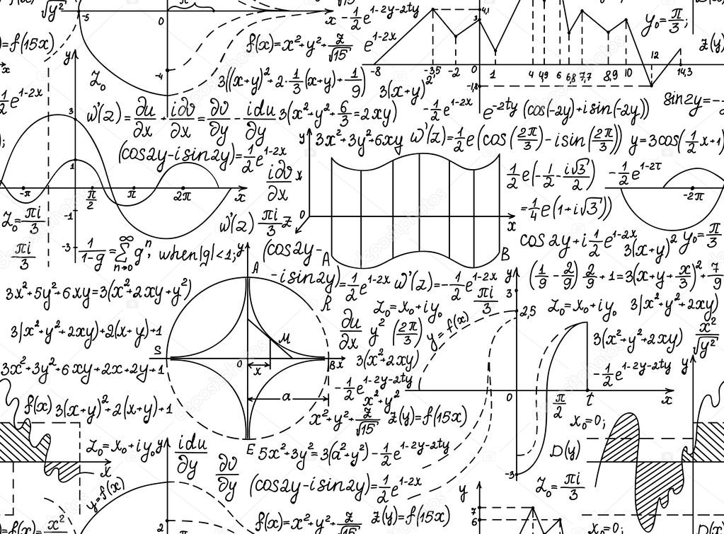 Mod�le sans couture de vecteur math�matique avec des figures ...