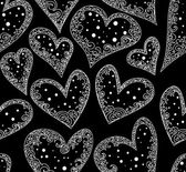 Valentine vector seamless pattern with figured hearts — Stockvektor