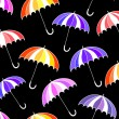 Beautiful vector seamless pattern with colorful umbrellas. Endless texture — Stock Vector #70529581
