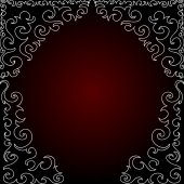 Abstract ornamental red vector frame — Stock Vector