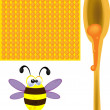 Bees and honey — Stock Photo #61517869