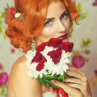Young beautiful bride with red hair — Stock Photo #55243609