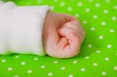 Hand of a little baby sleeping — Stock Photo