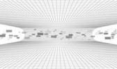 Streszczenie tło elektroniczne z cząstek — Wektor stockowy