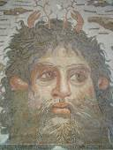 Ancient Roman mosaic — Stock Photo