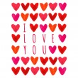 I love you Card — Stock Vector #60046475
