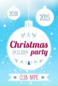Christmas Party design template. — Stockvektor