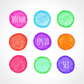 Colorful grunge  shapes — Stock Vector