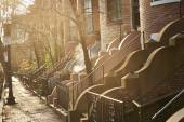 Typical residential buildings in Boston — Stock Photo