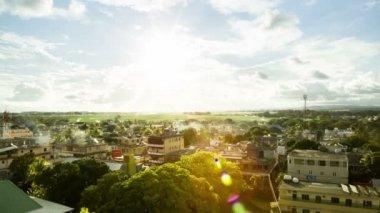 Aerial of mahebourg mauritius — Stock Video