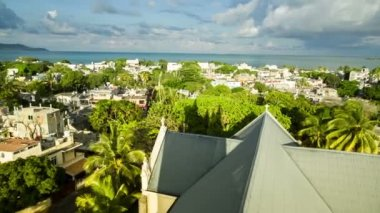 View of roofs of mauritius — Stock Video