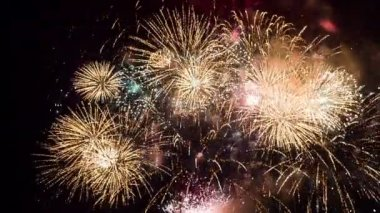 The international Festival of pyrotechnic — Stock Video