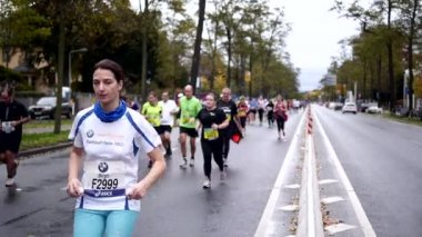 Germany oldest city marathon — Stock Video
