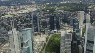 Banking district of Frankfurt — Stock Video