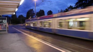 Early morning on Tram situation — Stock Video