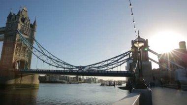 Tower Bridge in London. — Stock Video