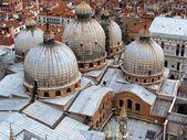 Copulas of the Basilica di San Marco, Venice, Italy — Stok fotoğraf