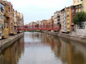 Eiffel bridge in Girona, Catalonia, Spain — Fotografia Stock