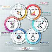 Modern infographics options banner. — Stock Vector