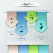 Modern infographics options banner — Vettoriale Stock
