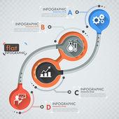 Flat Infographic Design — Wektor stockowy