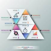 Modern infographics options banner. — Vettoriale Stock