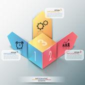 Faixa de opções do infográfico moderno — Vetor de Stock