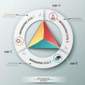 Modern Infographic Options Banner — Stock Vector