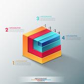Banner di infografica moderne opzioni. — Vettoriale Stock