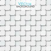 White modern vector geomitric background with little squares with rounded corners — Vecteur