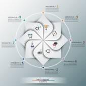 Modern Infographics Process Template — Stock Vector