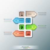 Modern infographics options banner — Stock Vector