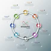 Infografia moderna timeline — Vetorial Stock