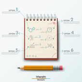 Modern Infographic template — Stock Vector