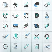 Set of 25 modern bussiness icons. Vector. — Stock Vector