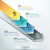 Modern infographics options banner — Stockvector