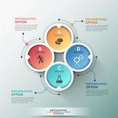 Moderne infografiken optionen banner. — Stockvektor