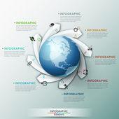 Moderna infographic alternativ banner — Stockvektor