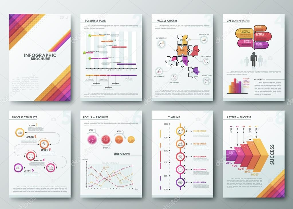 Infographics templates for pages