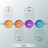 Modern infographics options banner. — Cтоковый вектор