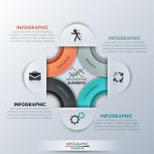 Moderne infographics opties banner — Stockvector