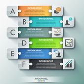 Modern infographic options banner. — Vector de stock