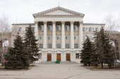 Administration building of Volga-Don Basin inland waterways — Stock Photo